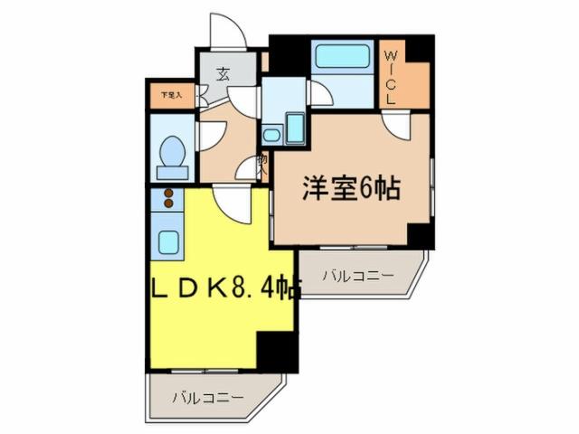 レジディア蒲田III 11階の間取り